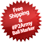 Free Shipping and Free #P2Army Ball Marker